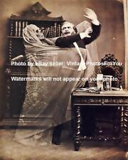 Old Antique Vintage Creepy Weird Strange Odd Man Skeleton Ghost Photo Picture