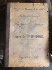 Trains - Cours de Technologie - 1926 - Matériel et Tractions - SNCB - B27