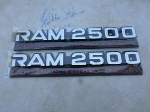 94-02 Dodge Ram 2500 Cummins Turbo Diesel 55295311AB Logo Emblem Decal Set of 2