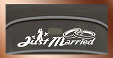 Just Married Wedding Hochzeit 45 cm Trauung Liebe Sticker Aufkleber Folie Decal