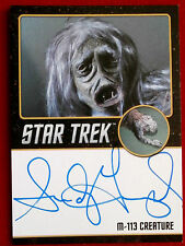 STAR TREK TOS 50th SANDY GIMPEL as M-113 Creature LIMITED EDITION Autograph Card