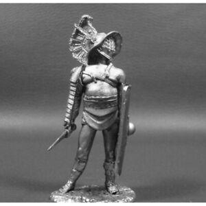 Gladiator Murmillo Ancient Rome 1st century BC 1/32 Scale Unpainted Tin Figure
