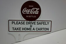 "License Plate Topper DRINK Coca Cola TAKE HOME CARTON 5 3/4"" High by 6 1/4"" Wide"