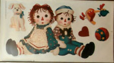 RAGGEDY ANN & ANDY dolls wall stickers dog RAGS toys 5 big decals nursery decor
