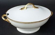 Vintage Kronach Rosenthal White & Gold Encrusted TUREEN Porcelain