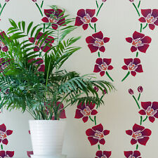 Orchid Flower Stencil - Large Reusable Tropical Plant Template by CraftStar