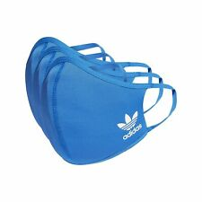 Adidas Mask Face Cover | Blue | Size M/L | 3-PACK | Reusable *FAST DISPATCH*