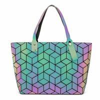 Women Bag Luminous Messenger Bags Geometry Handbag Tote Purses Casual Handbags