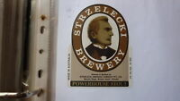 OLD AUSTRALIAN BEER LABEL, STRZELECKI BREWERY MIRBOO NORTH 1980s P/H STOUT