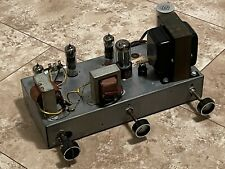 Vintage old Zenith stereo tube amplifier matching blackplate 6Bq5 12Ax7 works*