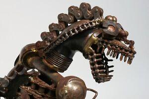Godzilla Welded Steel Sculpture - Articulated Industrial Brutalist 20th Century