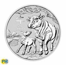2021 Perth Mint Lunar Year of the Ox 1oz Silver Bullion Coin