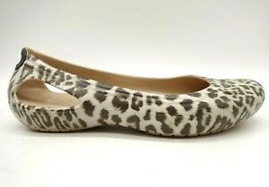 Crocs Logo Leopard Print Casual Slip On Flats Shoes Women's 7