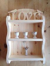 💕Shelf Unit Shelving Shabby Chic Pine Wood Wooden Display Shelf Kitchen Lounge