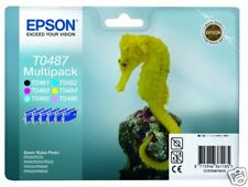 PACK 6 CARTOUCHE EPSON T0487 / t048 hippocampe t0481+++
