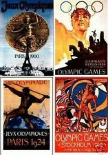 The Olympic Games program Cover postcard set card