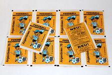 Americana coupe du monde Argentine 1978 ARGENTINA 78, 10 x Sac packet bustina (no panini)