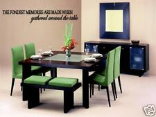 FONDEST MEMORIES Kitchen Dining Room Wall Decal 36""