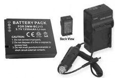 Battery +Charger for Panasonic DMCLX5K DMC-LX5W DMCLX5W
