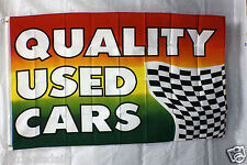Quality Used Cars flag 3'x5' banner Mastercard Visa Business Concession Bright
