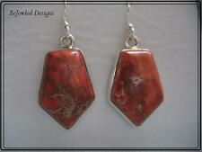 Sea Sediment Jasper 925 Sterling Silver Earrings Pierced only
