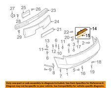Infiniti NISSAN OEM 03-07 G35 COUPE Rear Bumper-License Lamp Bracket 96252AM800