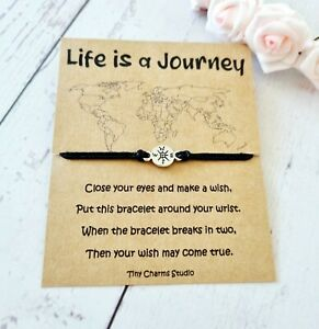 Life Is A Journey Wish Bracelet Long Distance Relationship Adventure Travel Gift