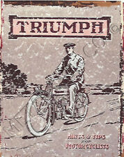 TRIUMPH MOTORCYCLE METAL SIGN RETRO VINTAGE STYLE12x16in 30x40cm garage cycle