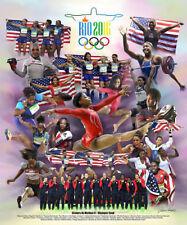 32x48 #1 Rio Olympics 2016 USA Women's Gymnastics Team Poster 13x20 24x36