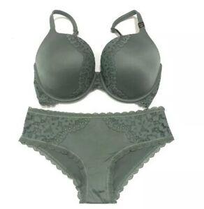 Victorias Secret Set Perfect Shape Bra 32DDD Matching Hiphugger Thong Small