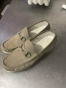 Gucci Horsebit Loafers Beige Tan Suede Size 10 G