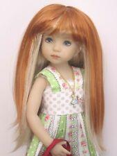 """Perruque mixte rousse/blonde poupée moderne d'Artistes-T18/19cm-Doll wig sz7/8"""""""