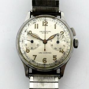 Vintage 1940's Universal Geneve Uni-Compax 283 Ref. 22322 Chronograph RUNNING