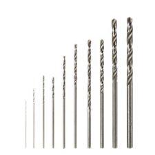 Dremel Rotary Tool High Speed White Steel Twist Hss Drill Bit Set 10pcs Mini Kit