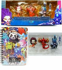 Blizzcon 2013 Cute But Deadly Kerrigan, Arthas, Diablo Figurine Set & Notebook