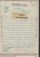 K644) Kriegsgefangenenpost Schwärzung, PWIB France Brief 15.4.45 > Leipzig
