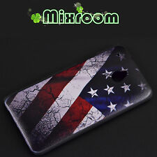 COVER CUSTODIA CASE RIGIDA PER HTC ONE MINI M4 BANDIERA AMERICANA VINTAGE USA
