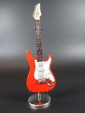 chitarra elettrica rosso Souvenir Modello Musica Strumento con scatola E Metallo