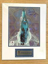 2012 London Olympics Card Framed Hand Autographed Photo of Rebbeca Adlington