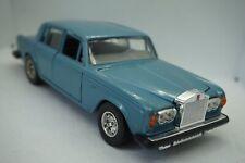 Silver Shadow II Rolls Royce James Bond Steel Blue Burago Italy Model Car 1/24