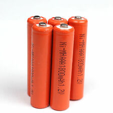 Red 5PCS AAA 1.2V 1800mAh Ni-MH rechargeable battery For Solar Light MP3 RC