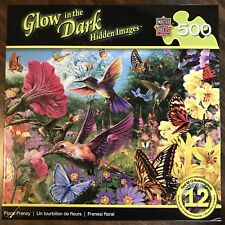 MasterPieces Puzzle Glow in the Dark Hidden Images Steve Read Floral Frenzy Rare
