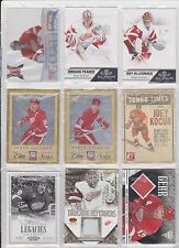45 Card Red Wings Lot Jimmy Howard Pavel Datsyuk Jersey Sergei Fedorov Inserts