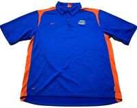 Nike Florida Gator Mens Blue Short Sleeve Polo Shirt Size XL