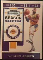 2019-20 Panini Contenders Lebron James Season Ticket Lakers Basketball Card #70