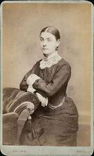 Rhyl. Young lady by J Brown, 3 Kinmel Street lace collar cuffs   JD1326