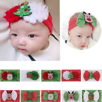 Newborn Toddler Kid Baby Girls Cartoon Christmas Headband Headwear Accessories