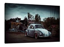 VW Beetle - 30x20 Inch Canvas Art Work - Volkswagen Framed Picture Print Poster