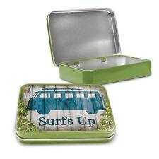 Volkswagen Camper Surfs Up Metal Keepsake Tin Mens Gift Storage Licensed 50463