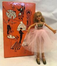 Vintage Flexible Play Doll Ballerina Girl Box Flagg Company Pink American Blond